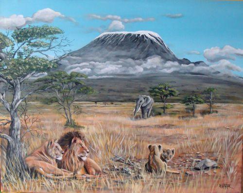 vue sur le kilimandjaro  (93X70)