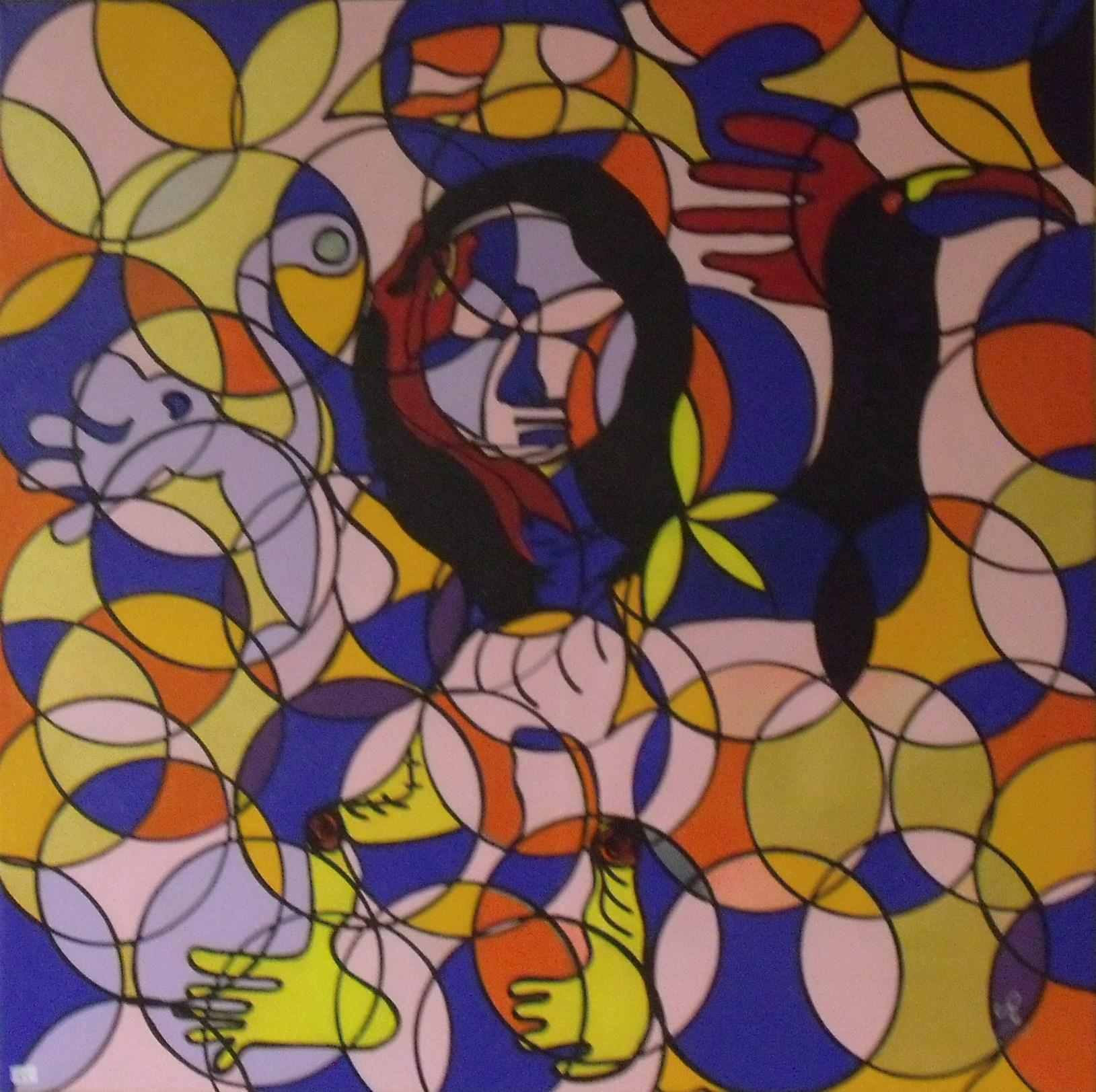 Christine RESSEGUIER - salon 2017 - Joconde abstrait 2