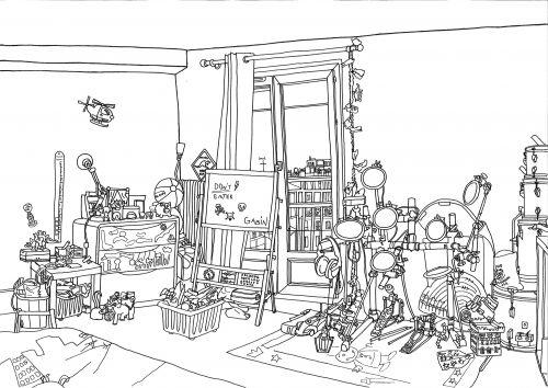 chambre Gabin, Clichy, juillet 2011