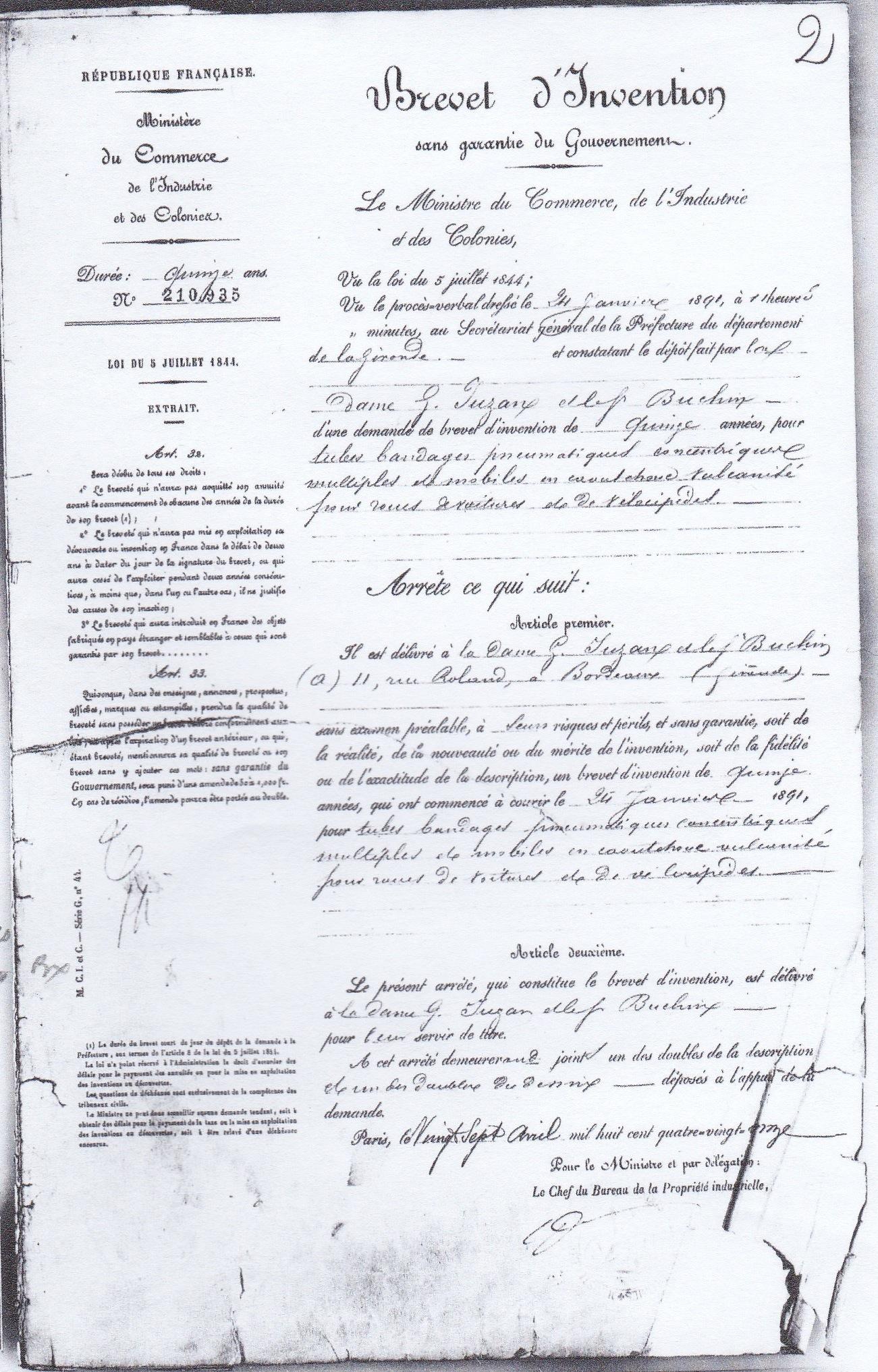 Brevet d'I. Juzan 1.jpg