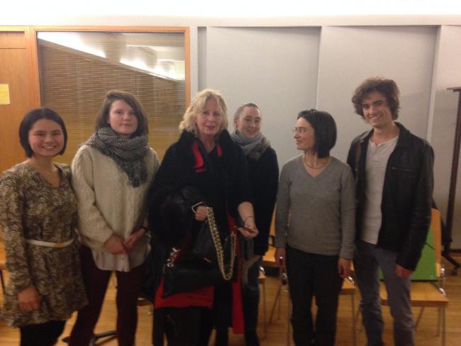 Les jeunes musiciens et leurs professeures, au concert du 5 février du cycle