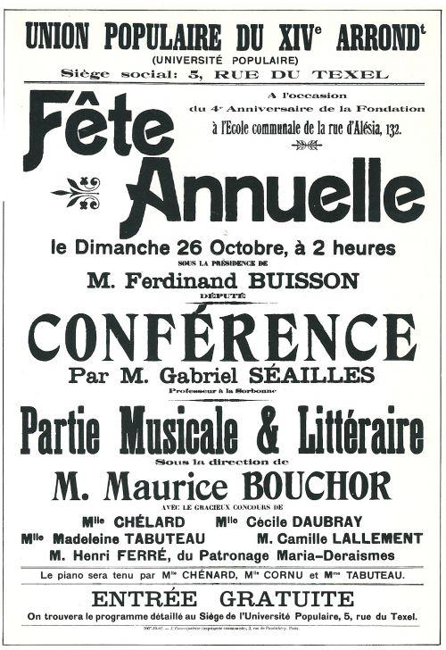 La fête de 1903