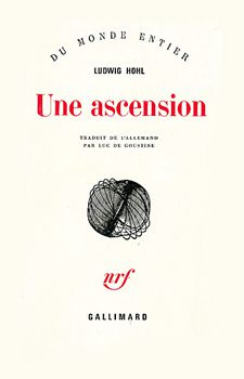 couverture du livre de Ludwig Hohl, Ascension, éditions Gallimard.