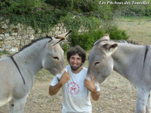 Eric avec Prunelle et Jerry