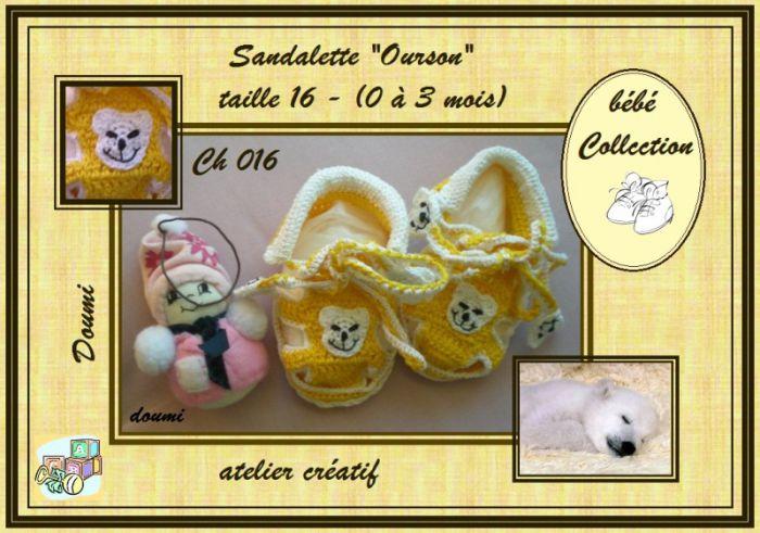 Ch016 - Sandales ''Ourson'' sfr.  8.--
