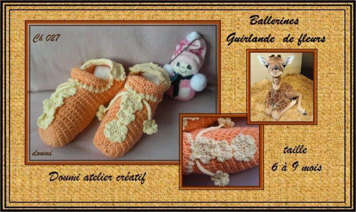 Ch027 - Ballerines guirlande fleurs sfr. 8.--
