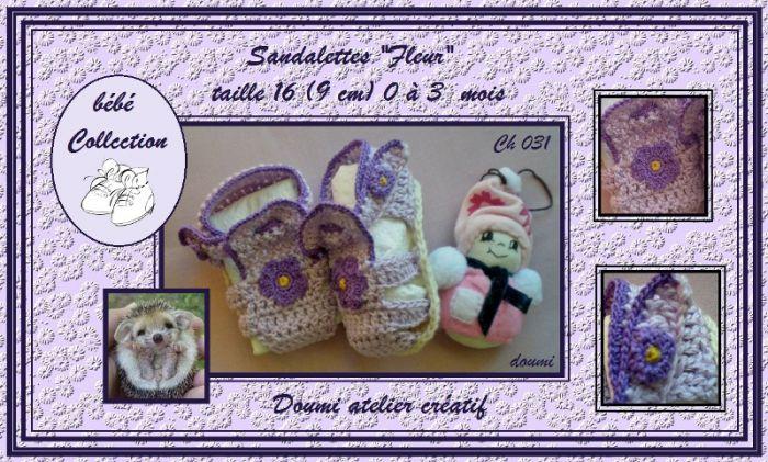 Ch31 - Sandalettes ''Fleur'' sfr. 8.--