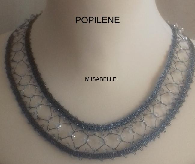 collier coktail fil LUREX et perles de SWAROVSKI