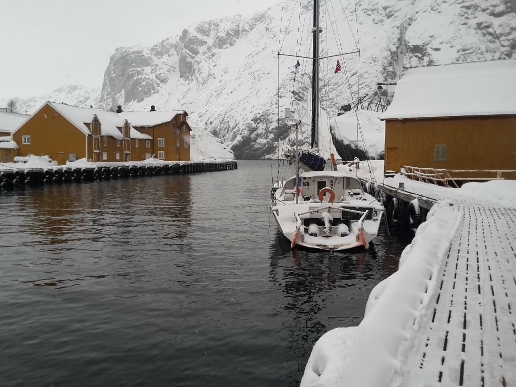 Nusfjord, il va encore falloir déneiger.