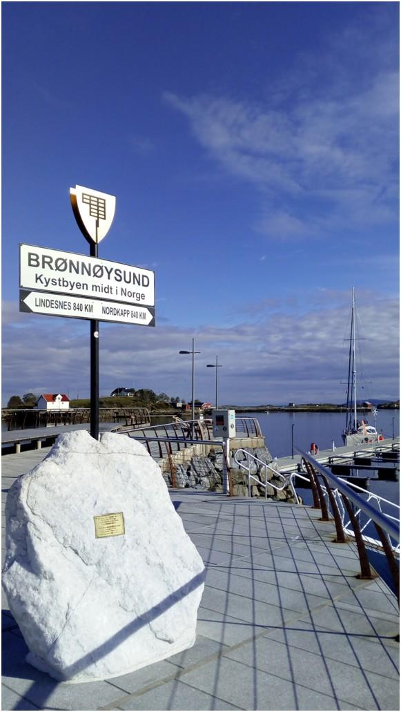 Bronnoysund le point médian de la côte norvégienne