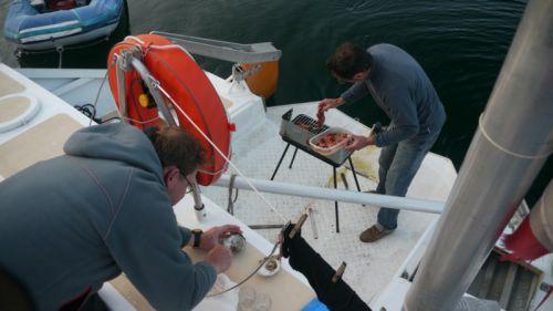 Pierre et Herve a la preparation du repas