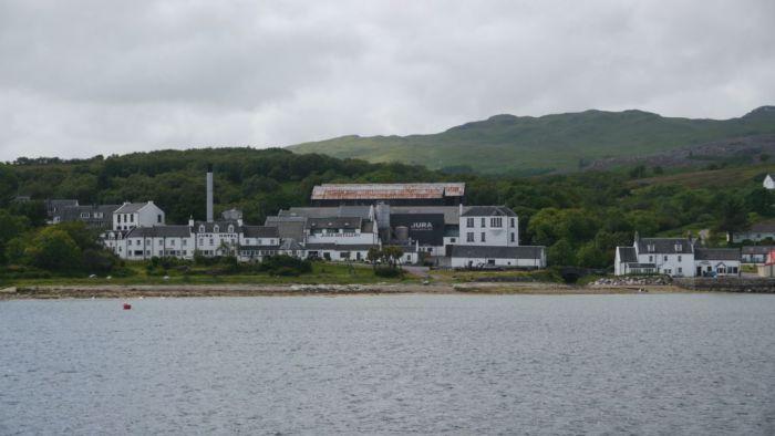 la distillerie de Jura sur l'ile de Jura