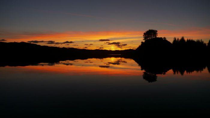 couche de soleil en Norvege