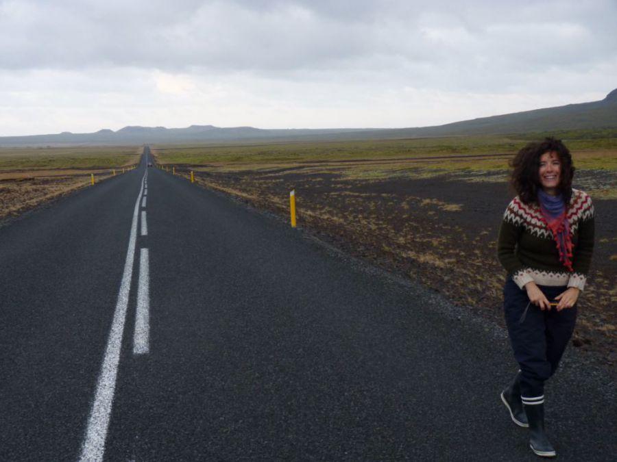 Estelle sur la route
