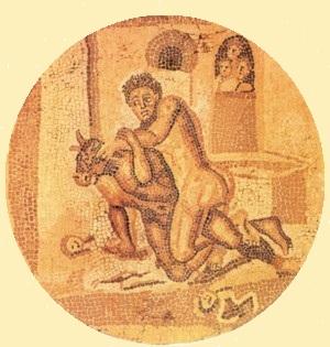 16 - mosaique Romaine sur fond jaune.jpg