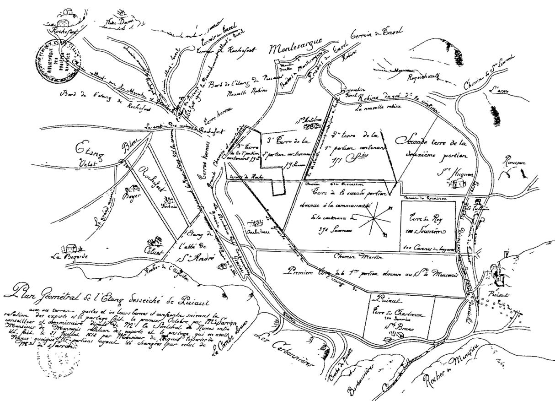11 _ Plan de l'étang de Pujaut en juillet 1612.JPG