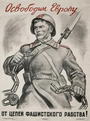 Libérons l'Europe de l'esclavage fasciste ! Affiche des années 40.jpg