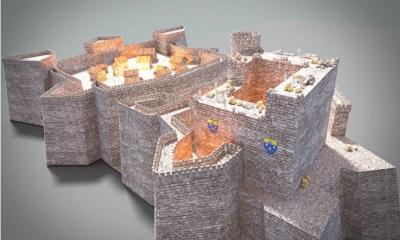 26 - Reconstitution du chateau médieval d'après maquette de Daniel membre APOO.jpg