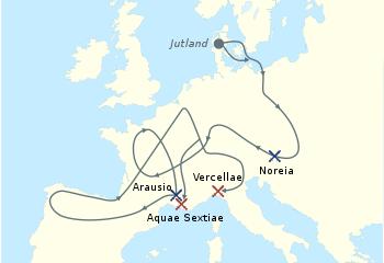 Migrations Cimbres et teutones victoires et défaites.png