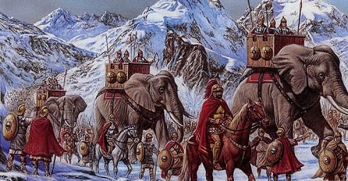 Hannibal passant les Alpes au Mongenèvre.jpg