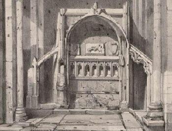 32 - 18 - Lithographie ancienne Emplacement du Tombeau de la belle Maguelonne.jpg