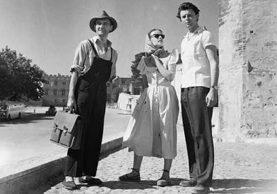 Gérard Philippe et Jeann Moreau a Avignon.JPG