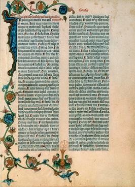 Bible à 42 LIGNES de GUTEMBERG 1455 400x266.jpg