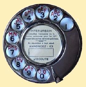 29 - Cadran_Téléphonique_Modèle_Administratif_1927_avec_Disque_d'Appel_Normalisé_En_Laiton_Nickelé_(PTT_France).jpg