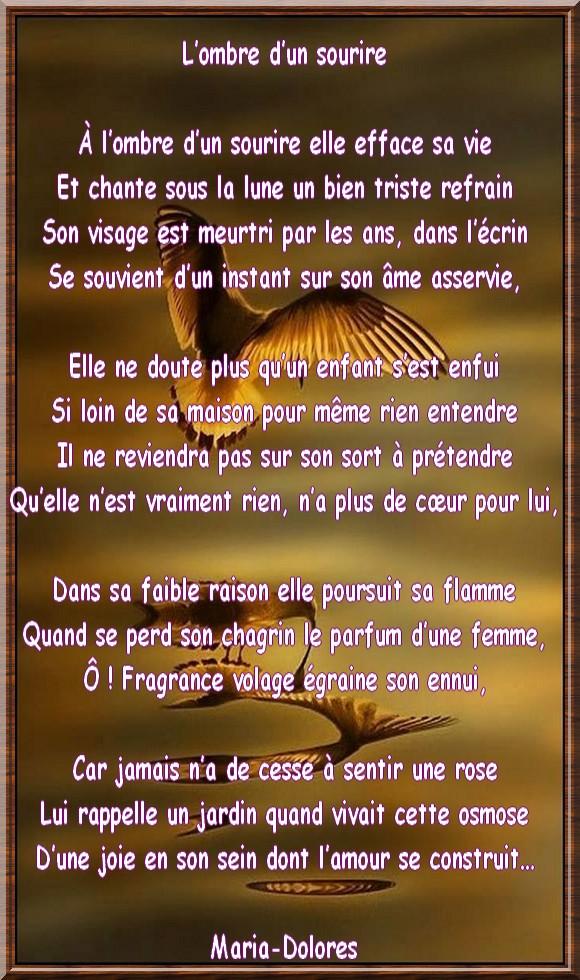 Lombre Dun Sourire Forme Le Sonnet Irrégulier