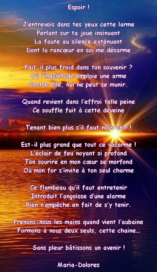 Espoir Forme Double La Shaltinienne Poemes De