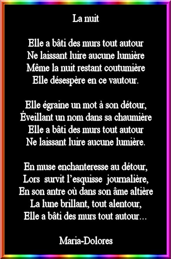 La Nuitforme Le Rondel Poemes De Marido Toutes Formes