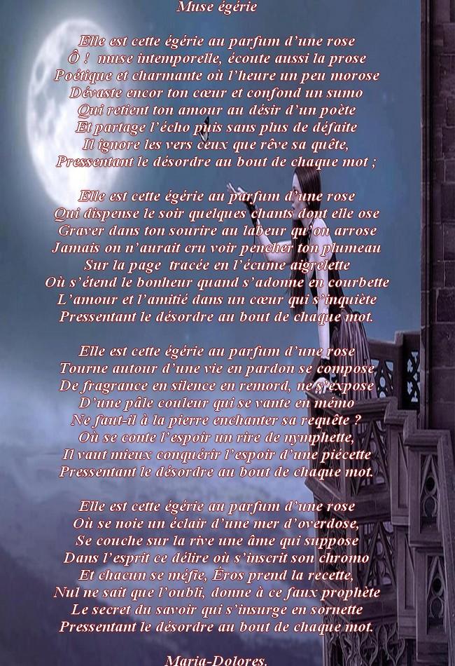Muse égérie Forme La Balladine Poemes De Marido