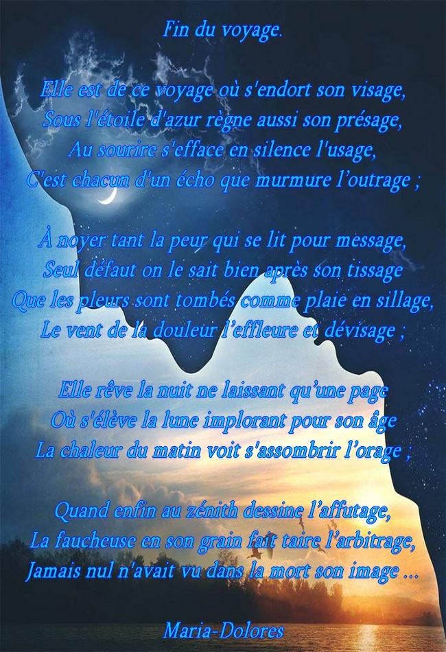 Fin Du Voyageforme Le Sonnet De Style Arabe Poemes