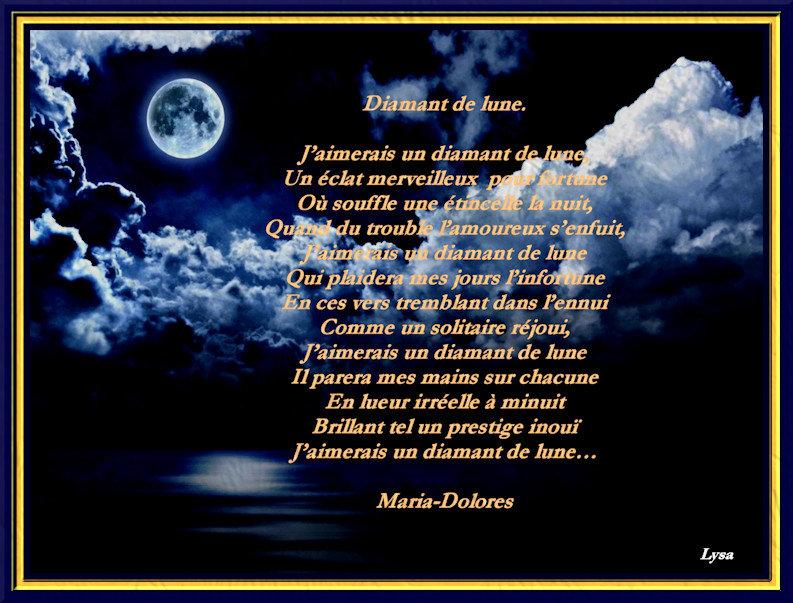 Diamant De Lune Forme Rimes Suivies Poemes De Marido