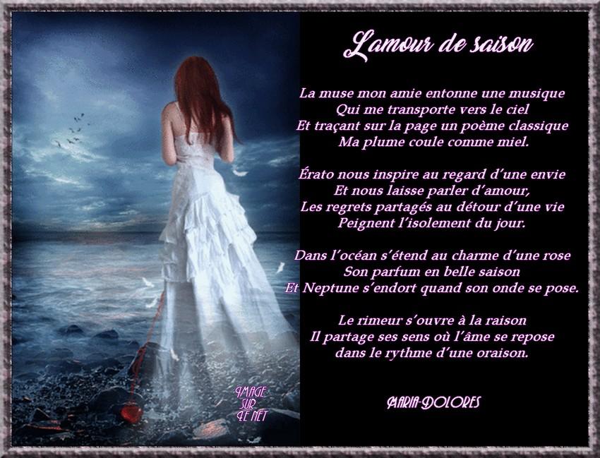 Lamour De Saisonforme Le Sonnet Iambiqueimage Sur Le