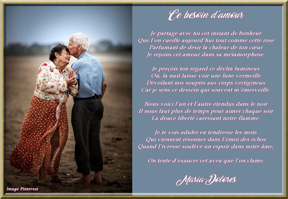 Ce besoin d\\\'amour