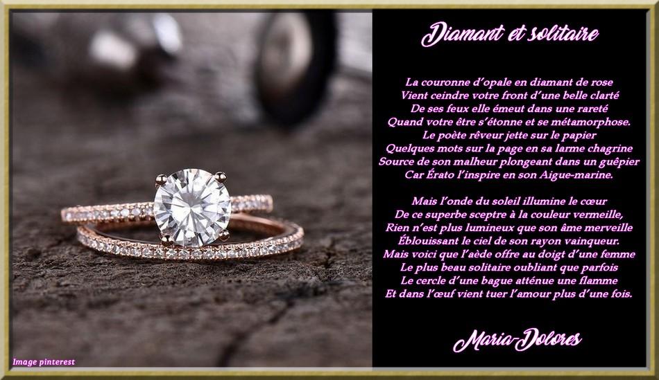 Diamant et solitaire