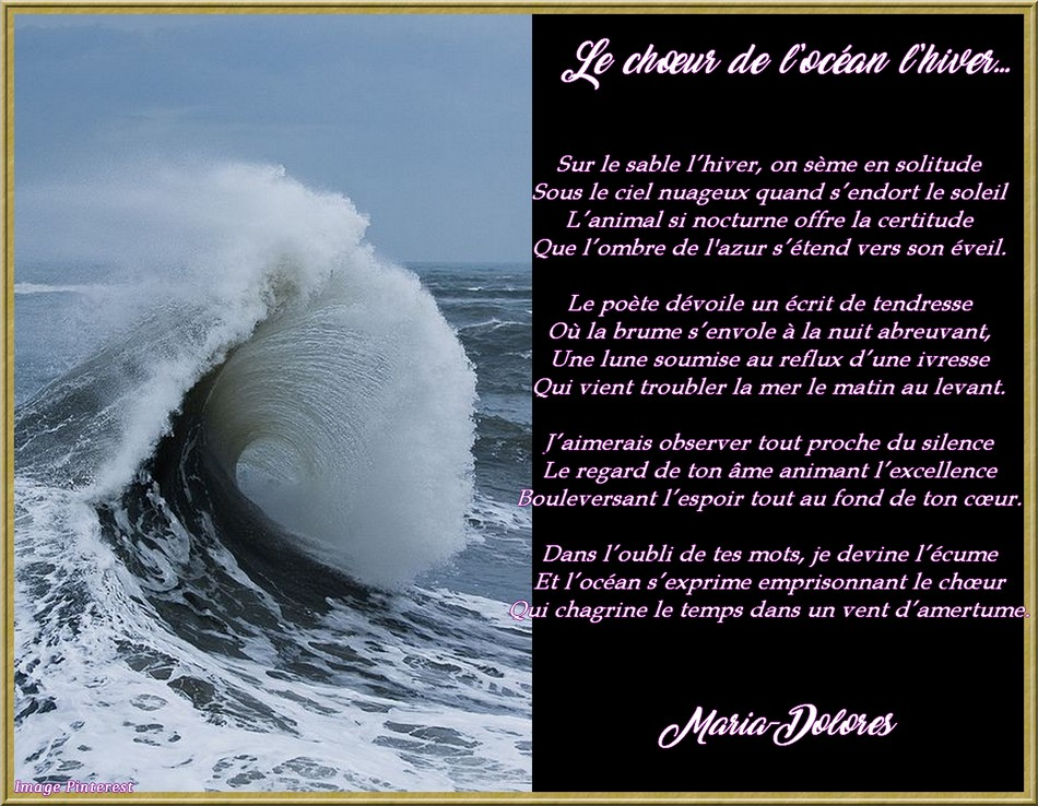 Le chœur de l'océan l'hiver…
