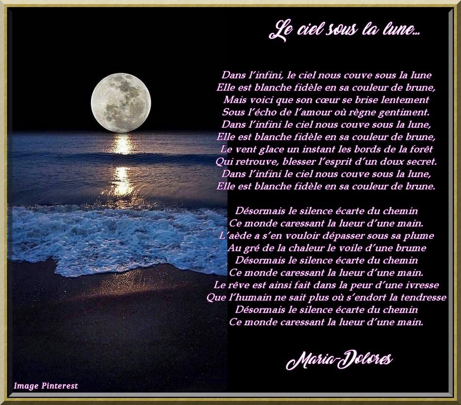 Le ciel sous la lune