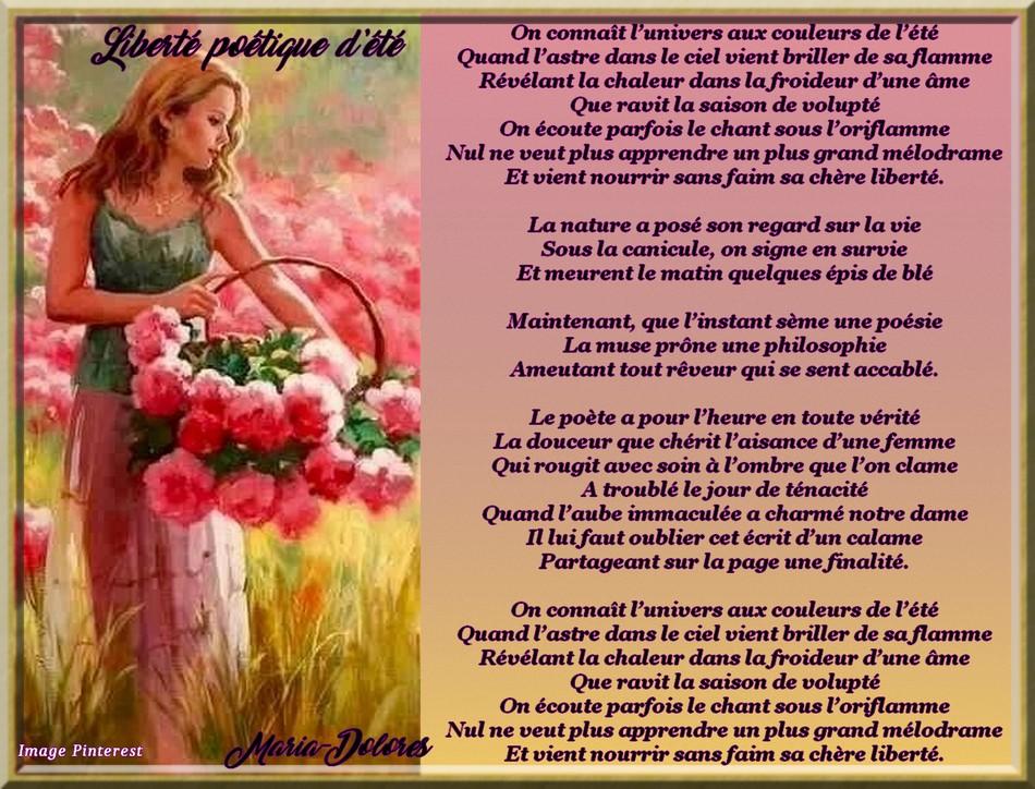 Liberté poétique d\\\'été grande chanson balladée