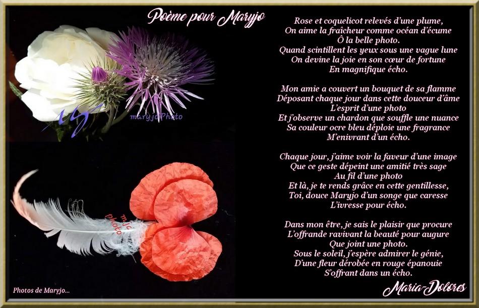 Poème pour Maryjo