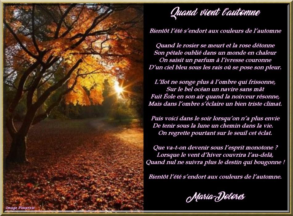 Quand vient l\\\'automne