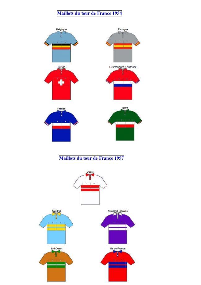 100 - Les maillots des équipes nationales (tdf 54) et régionales (tdf 57) copiés sur les cyclistes Starlux.