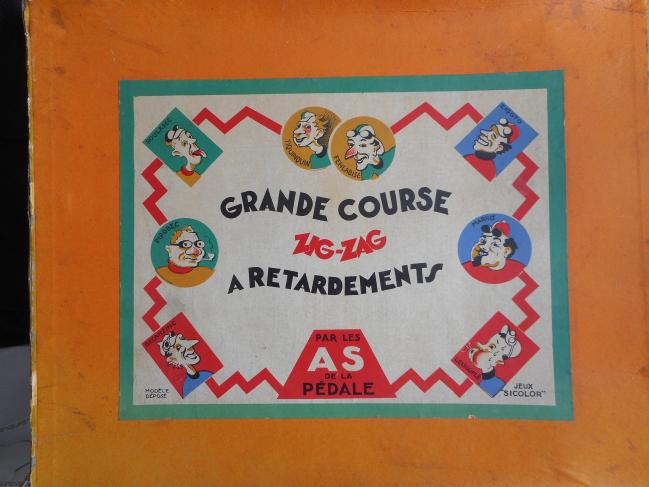 Les jeux : Jeu Grande Course Zig-Zag à retardements (Sicolor - France années 50's)