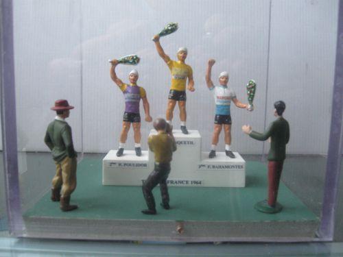 n 12 - podium tour de frrance 1964: ANQUETIL, POULIDOR, BAHAMONTES