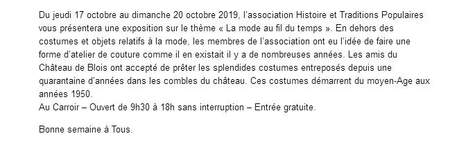 Costumes Blois