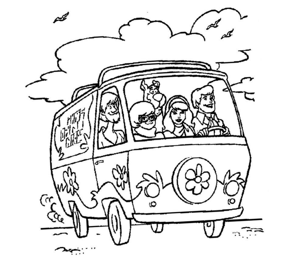 Minibus à colorier
