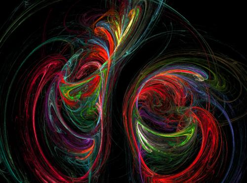 Trajectoires fractales chaotiques