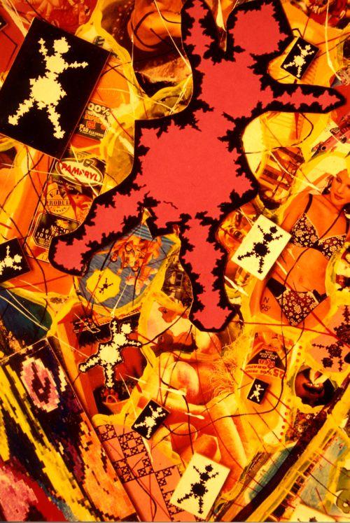 Carlos Ginzburg_Homo Fractalus_1999_Détail de 3 panneaux, techniques mixtes, 5 x 1,5 m