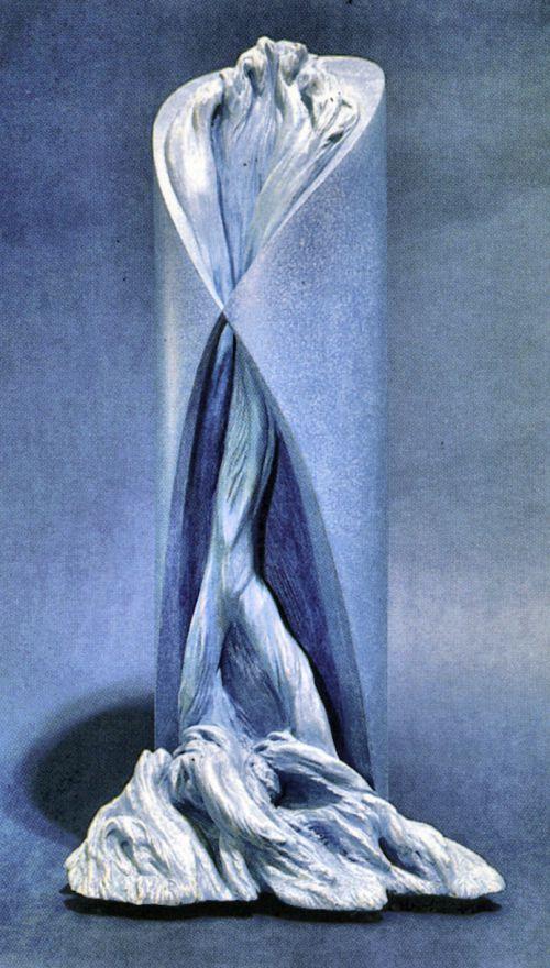 Jean Letourneur_Bifurcations_Plâtre polychrome_1995